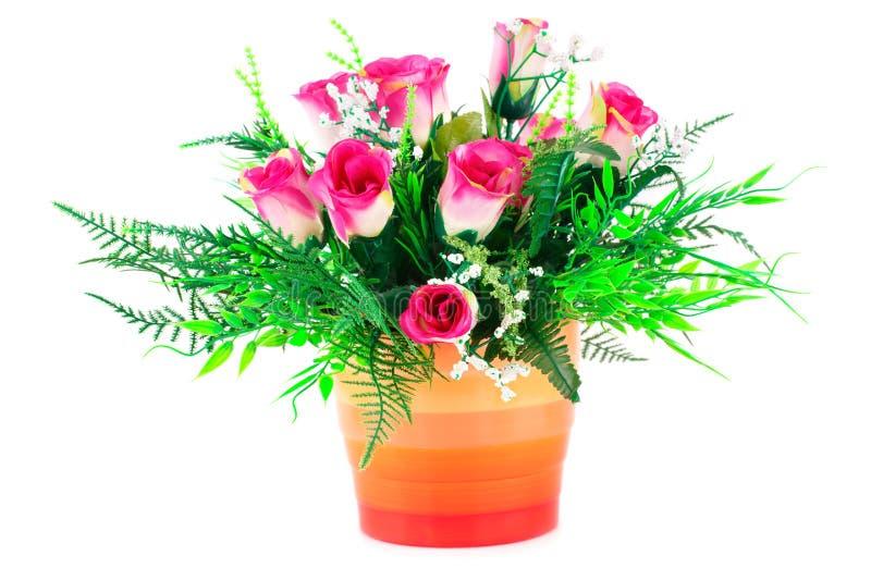 obrazu róż wazy akwarele zdjęcia royalty free