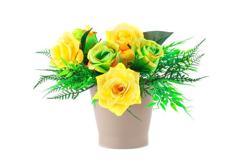 obrazu róż wazy akwarele zdjęcie stock