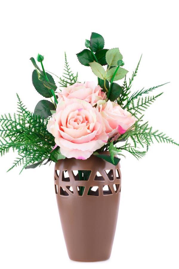 obrazu róż wazy akwarele obrazy stock