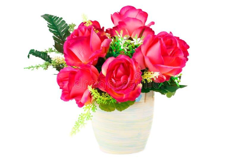 obrazu róż wazy akwarele obraz stock