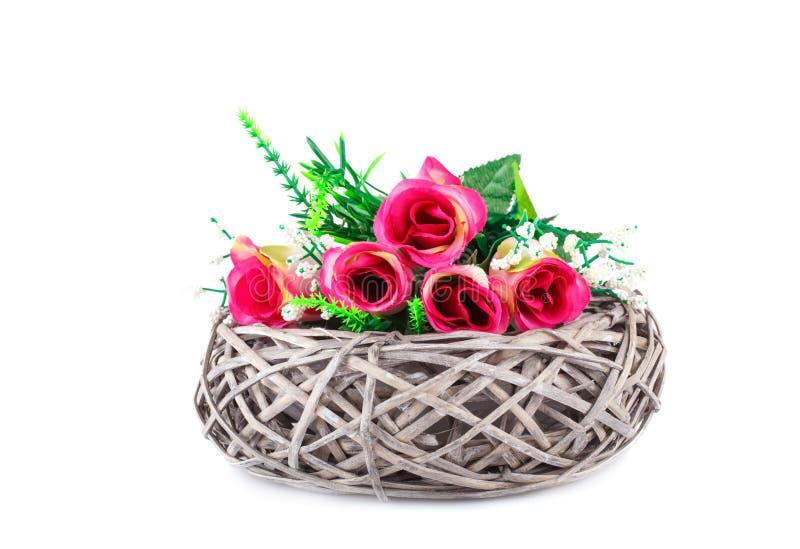 obrazu róż wazy akwarele obrazy royalty free