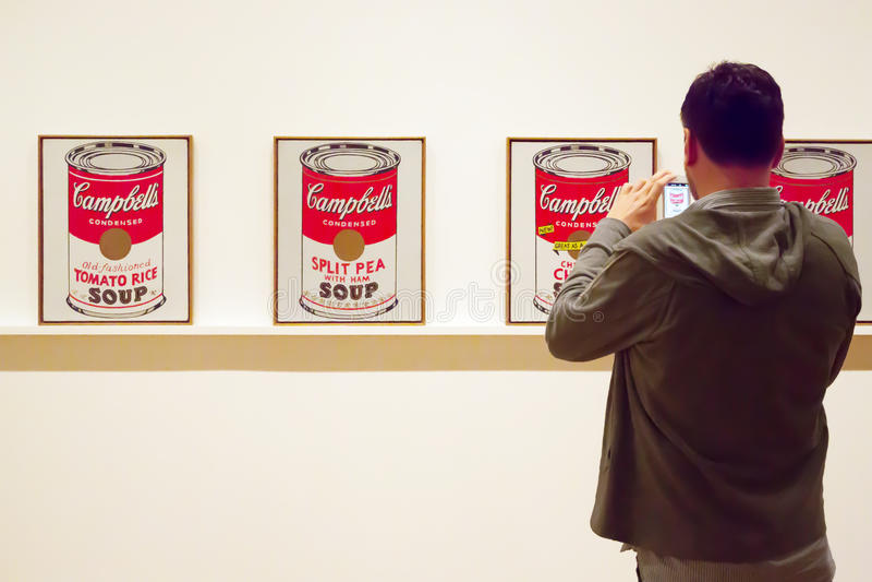 Obrazy Warhol w MoMA Nowy Jork fotografia royalty free