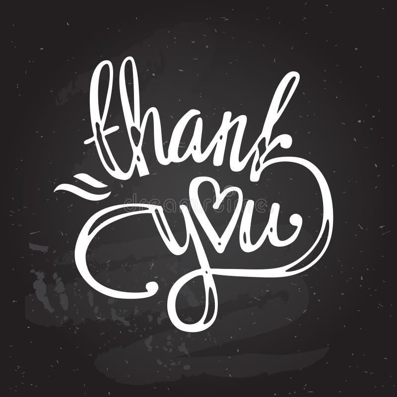 'obrigado' entregar a rotulação - caligrafia feito a mão ilustração do vetor