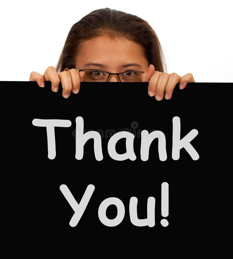 Obrigado mensagem mostrar a gratitude foto de stock royalty free