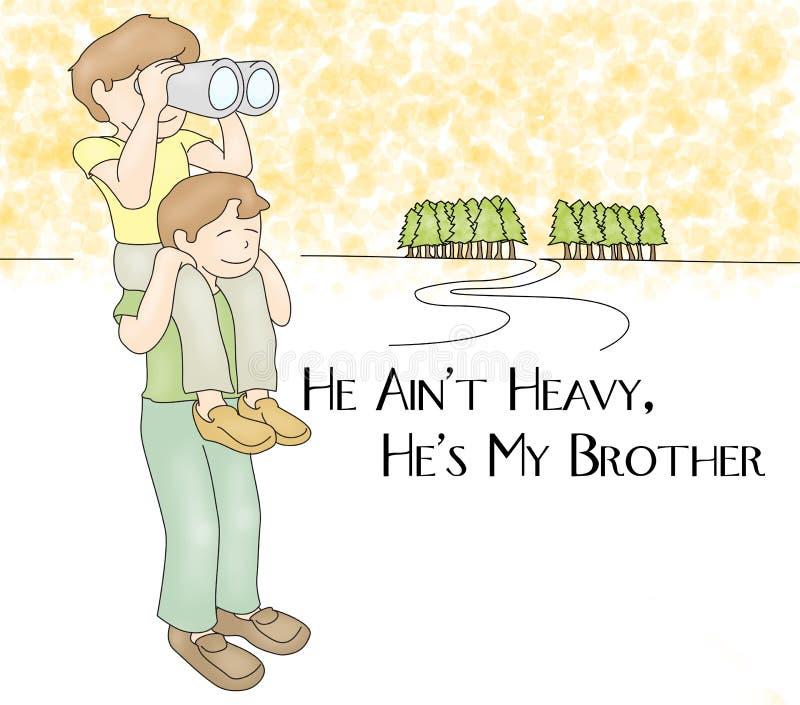 Obrigado meu mais caro irmão Card Illustration ilustração stock