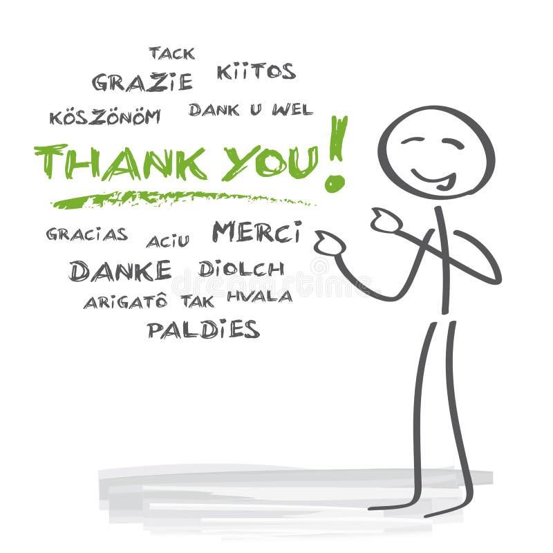 Obrigado multilingue ilustração do vetor