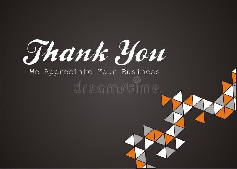 Obrigado - nós apreciamos seu negócio ilustração do vetor