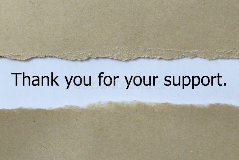 Obrigado para seu apoio fotografia de stock royalty free