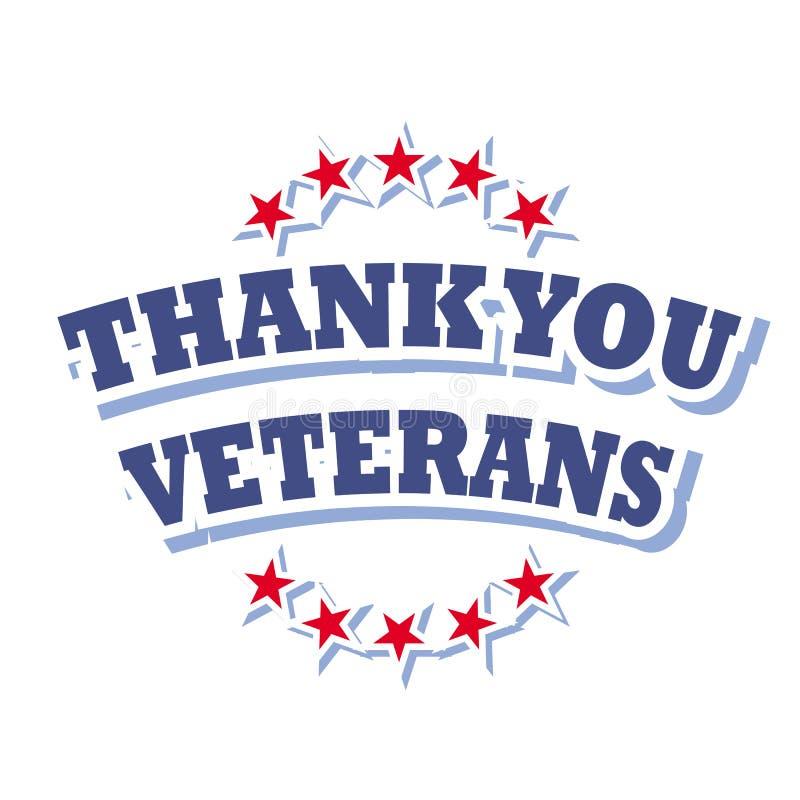 Obrigado veteranos ilustração stock