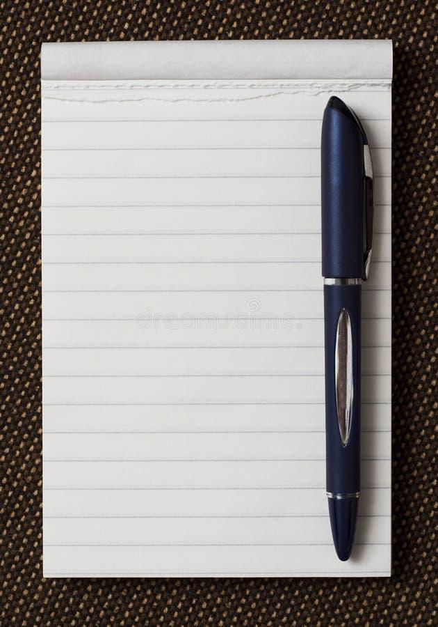 obrońca kartkę długopis zdjęcia stock