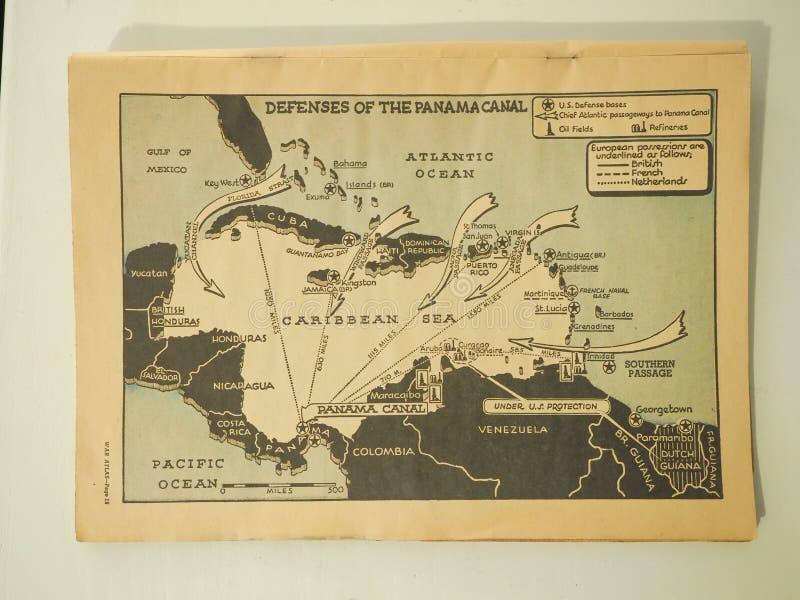Obrony Panamski kanał 1943 jak zdjęcia stock