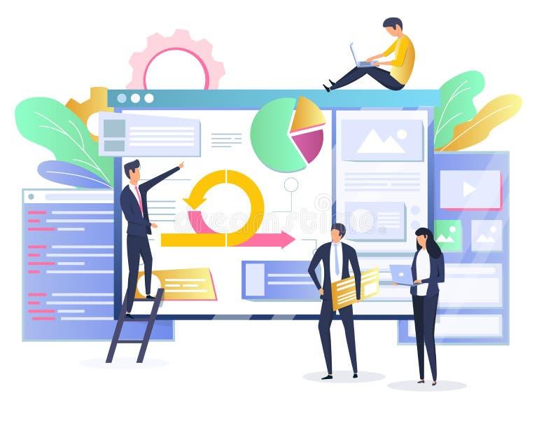 Obrotna rozwój oprogramowania metodologii pojęcia wektoru ilustracja ilustracja wektor