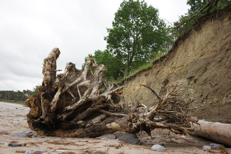 Obruszenie Glebowa erozja zdjęcie stock
