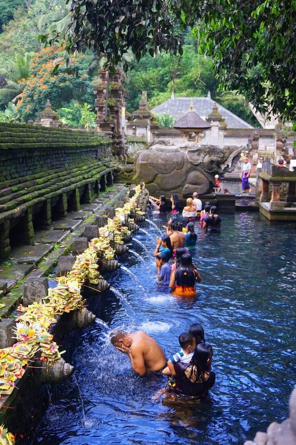 Obrządkowa kąpanie ceremonia, Bali Indonezja fotografia stock
