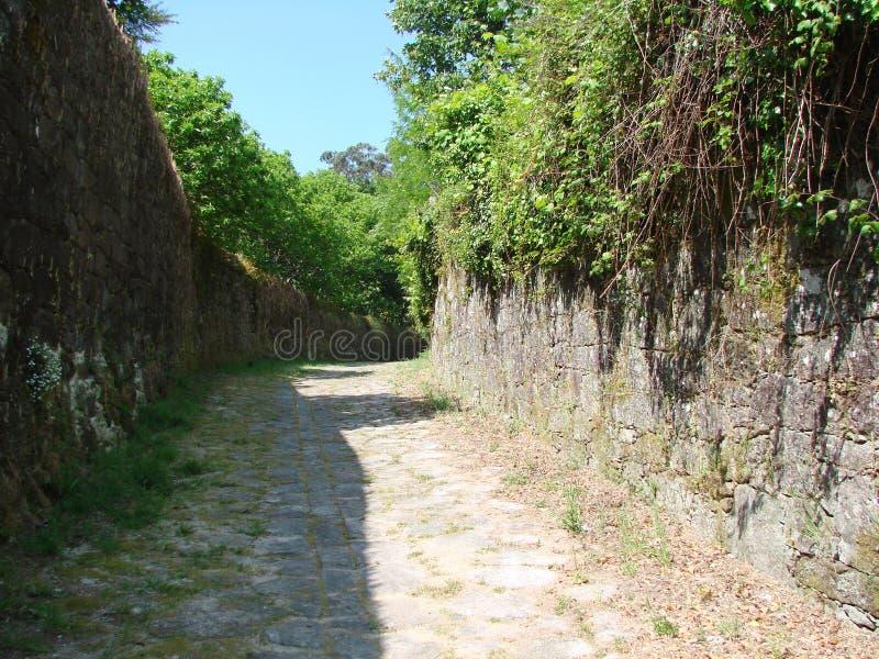 Obrzeża miasteczko Padron Hiszpania Naturalni krajobrazy i widoki średniowieczni religijni przedmioty na słonecznym dniu fotografia royalty free
