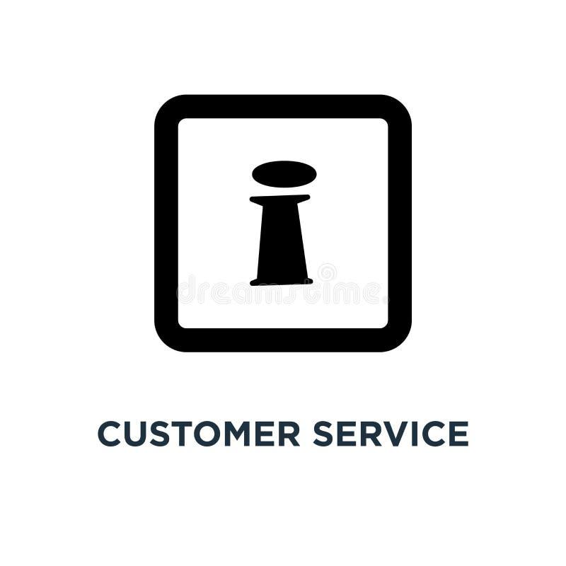 obsług klientych ikon ikona obsług klientych ikon pojęcia symb royalty ilustracja
