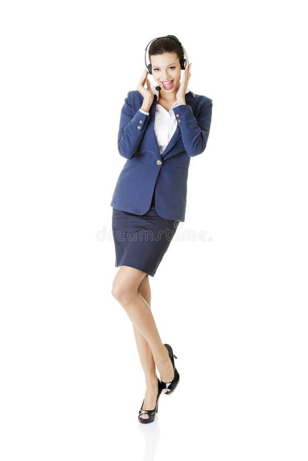 Obsługa klienta przedstawiciela mienia businesscard. zdjęcie stock