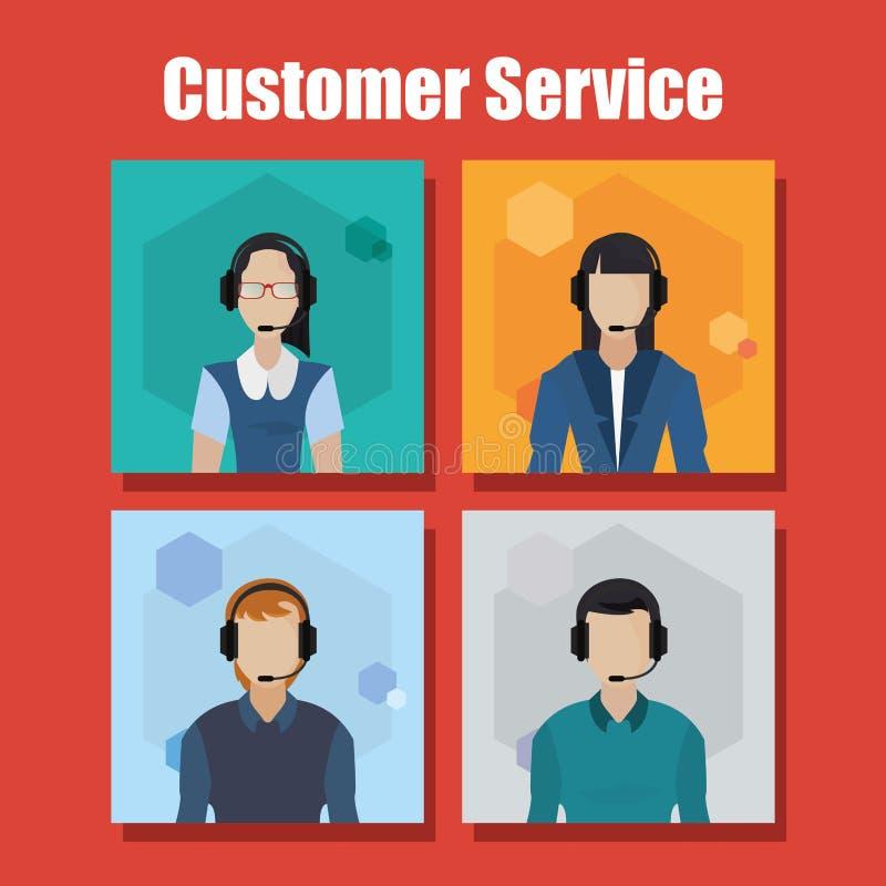 Obsługi Klienta centrum telefoniczne royalty ilustracja