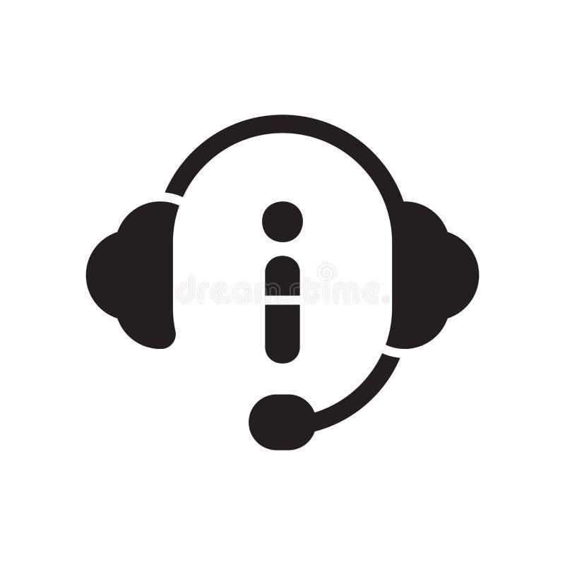 Obsługi klienta ikona odizolowywająca na białym tle ilustracja wektor