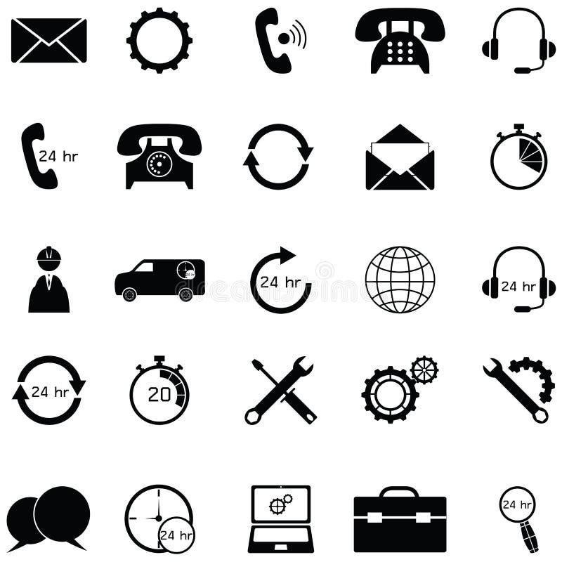 Obsługi klienta ikony set ilustracji