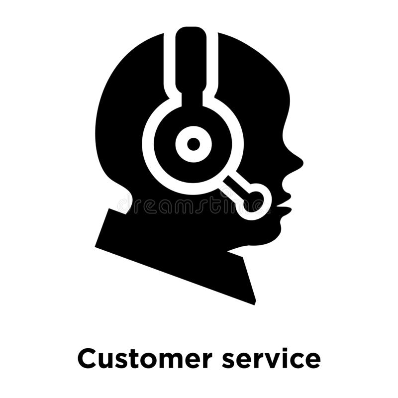 Obsługi klienta ikony wektor odizolowywający na białym tle, logo ilustracji
