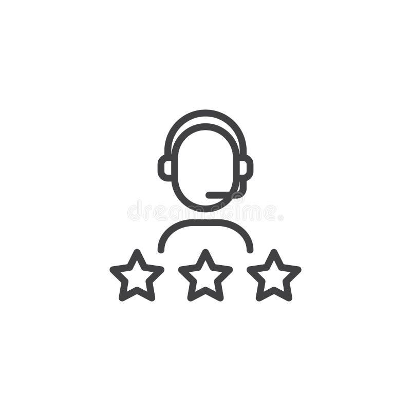 Obsługi klienta oceny konturu ikona ilustracji