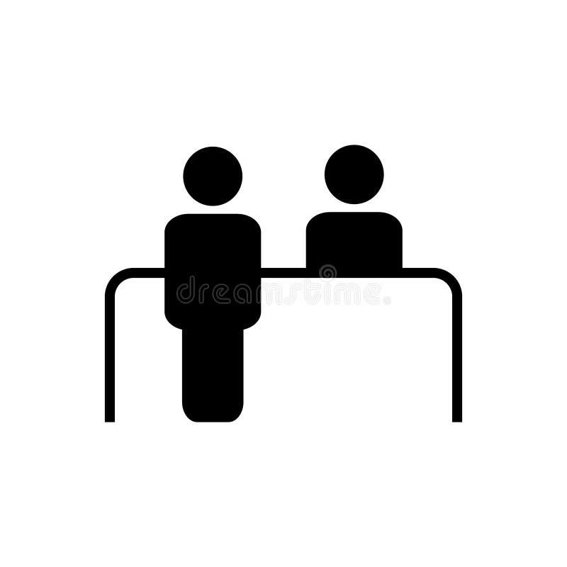 Obsługi klientej biurka wektoru ikona Recepcyjny symbol dla graficznego projekta, logo, strona internetowa, ogólnospołeczni środk ilustracja wektor