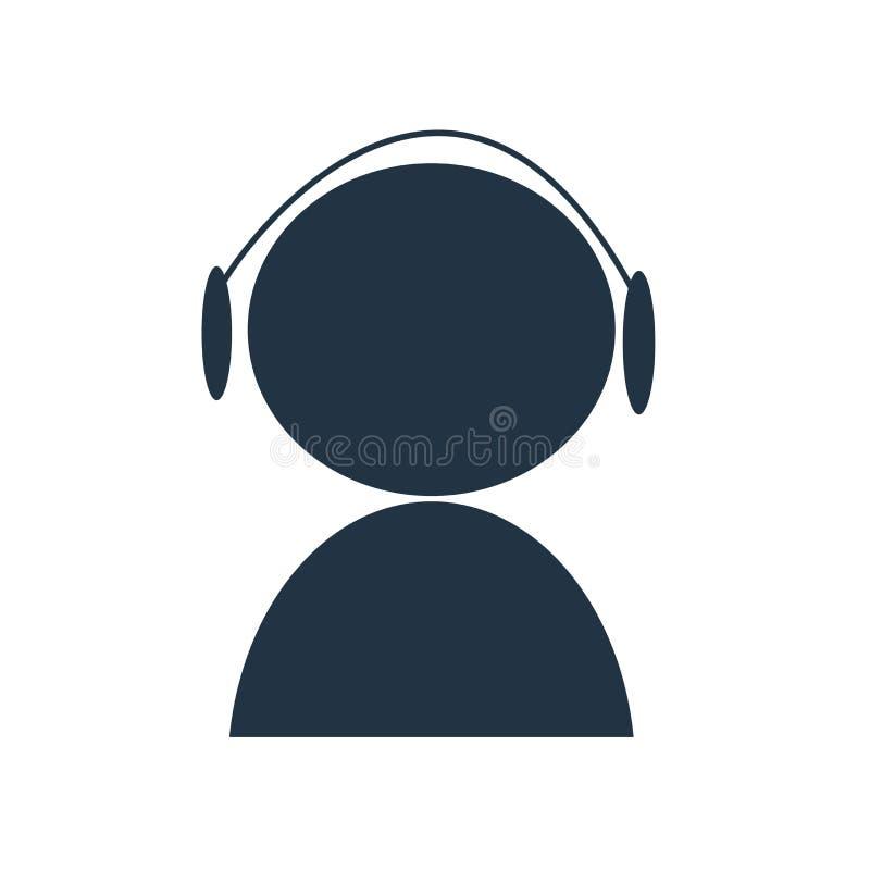 Obsługi klientej ikony wektor odizolowywający na białym tle, obsługa klienta znak royalty ilustracja