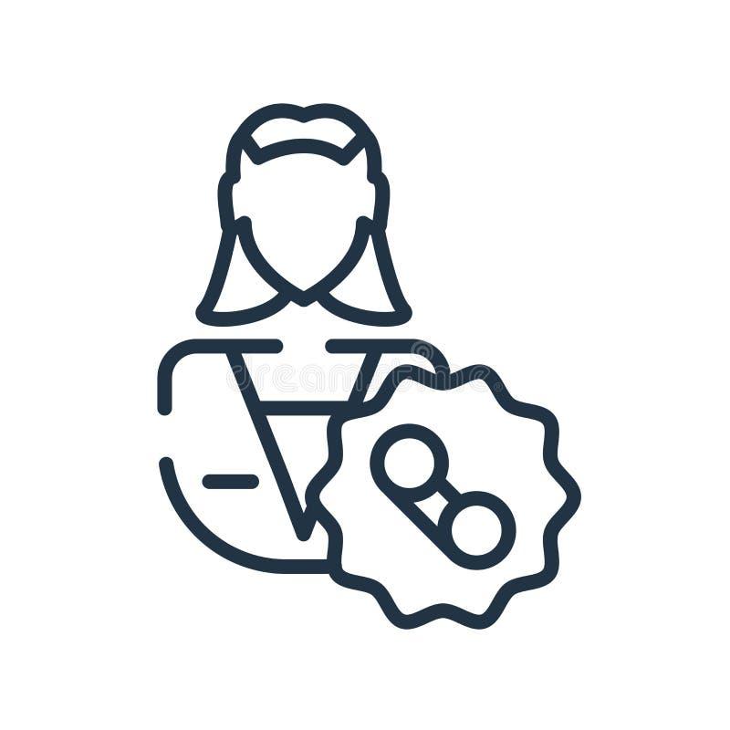 Obsługi klientej ikony wektor odizolowywający na białym tle, obsługa klienta znak ilustracja wektor