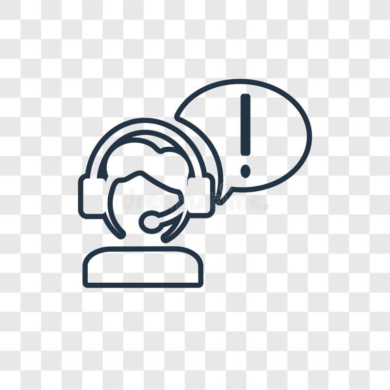 Obsługi klientej pojęcia wektorowa liniowa ikona odizolowywająca na transpar royalty ilustracja