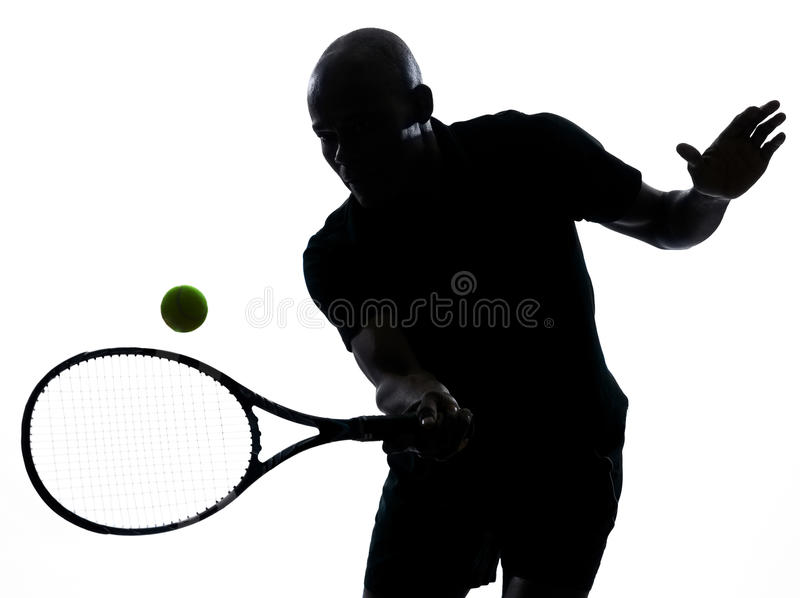 Mężczyzna gracz w tenisa forehand zdjęcie stock