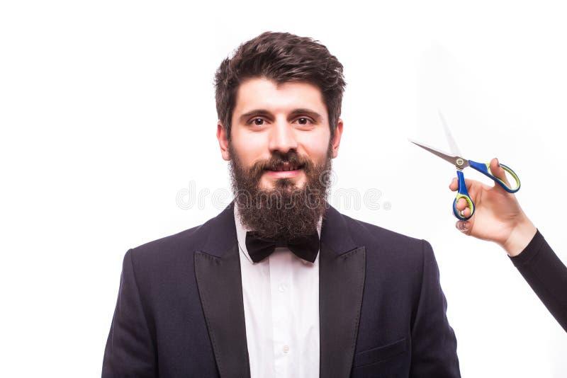 Obsługuje brody włosianego rozcięcia, barberchop zdjęcia stock