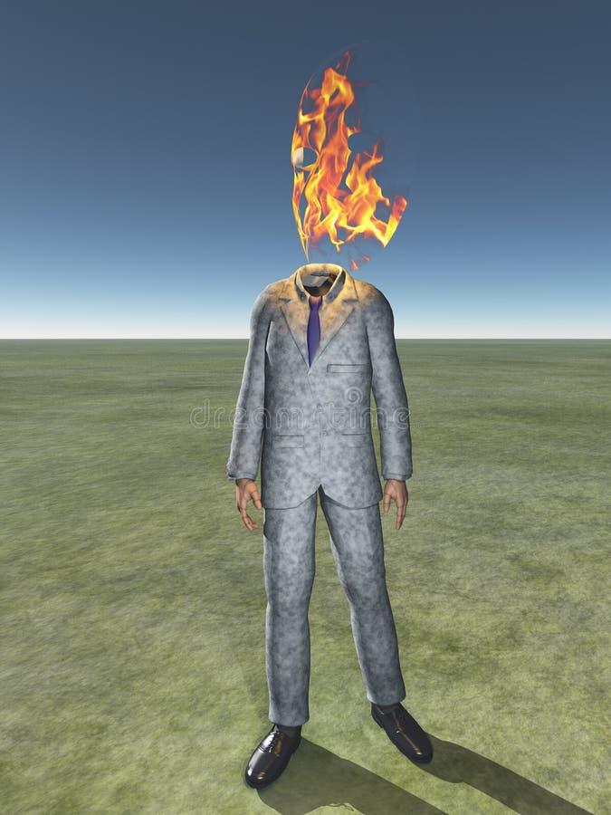 Obsługuje ciało z ogieniem ilustracja wektor