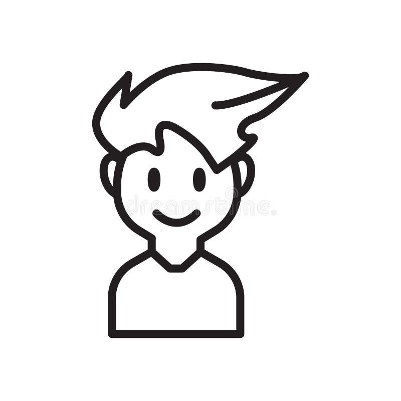 Obsługuje ikona wektor odizolowywającego na białym tle, mężczyzna znak ilustracja wektor