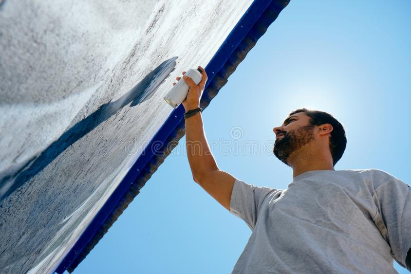 Obsługuje obrazów graffiti Wzdłuż Camino de Santiago obraz stock