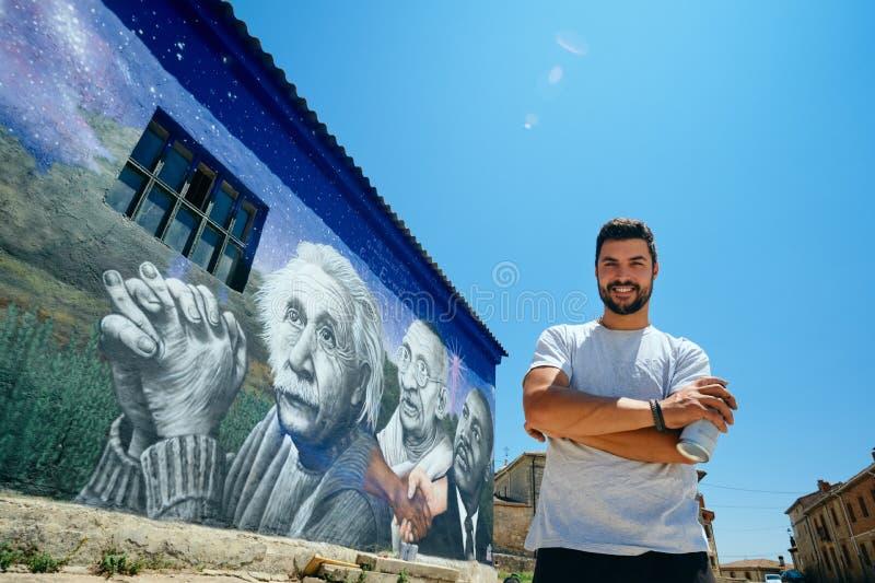 Obsługuje obrazów graffiti Wzdłuż Camino de Santiago obrazy stock