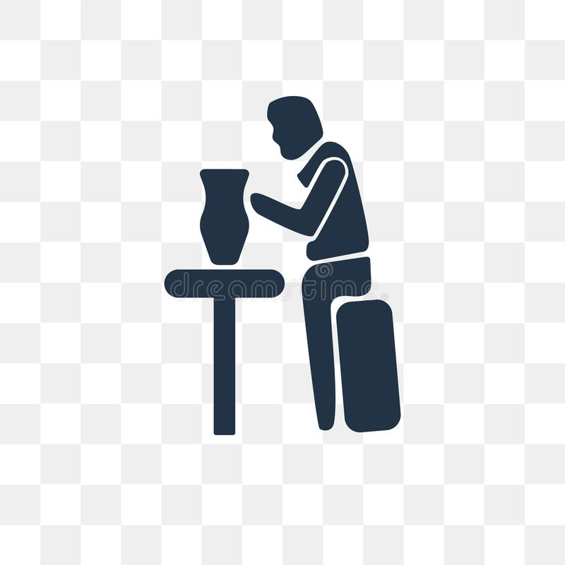 Obsługuje Robić Ceramicznej wektorowej ikonie odizolowywającej na przejrzystym tle ilustracji