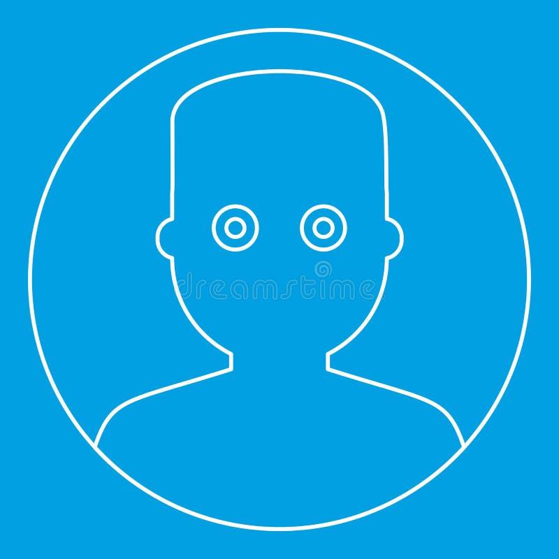 Obsługuje twarz z szeroką przyglądającą się ikoną, konturu styl royalty ilustracja