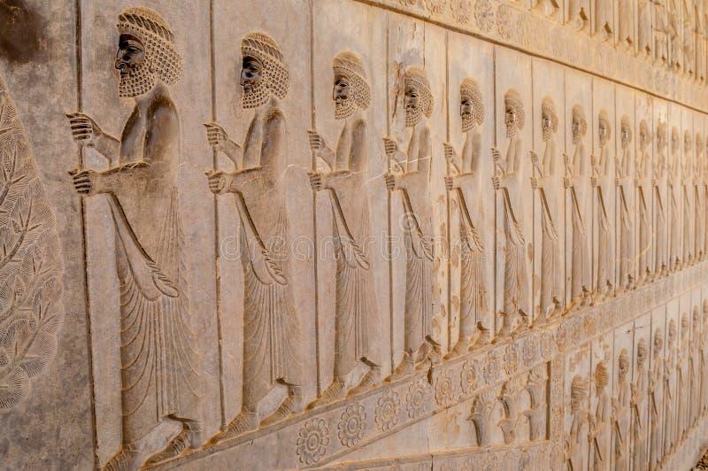 Obsługuje w Persepolis zdjęcie stock