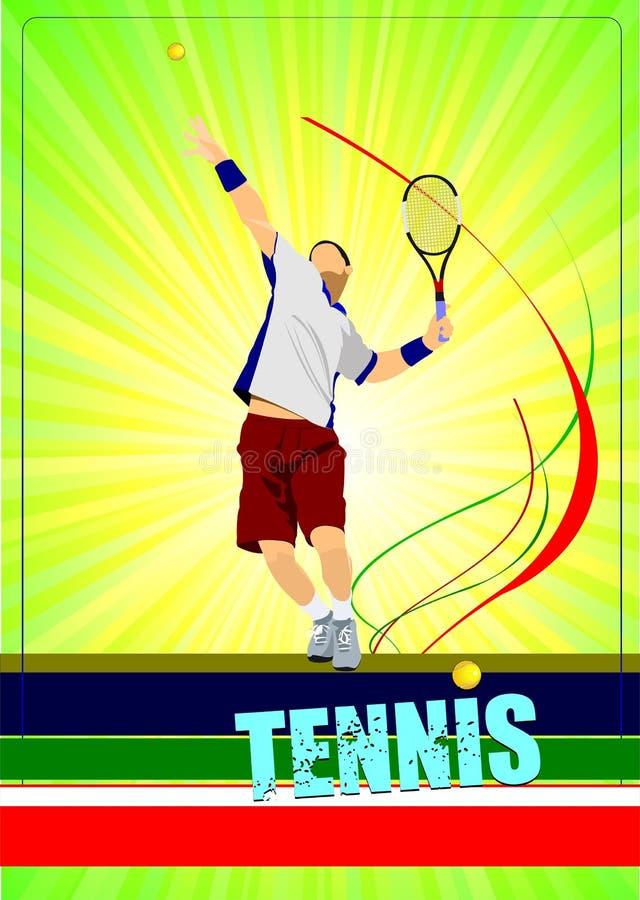 Obs?uguje gracz w tenisa ilustracji