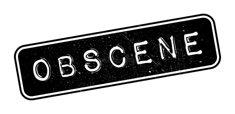Obscene rubber stamp. On white. Print, impress overprint vector illustration
