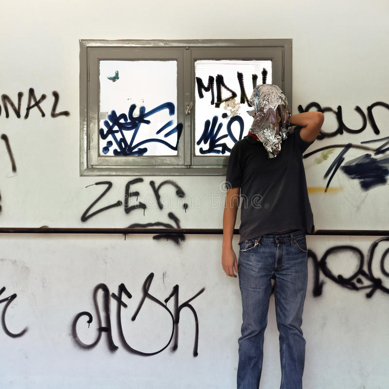 Download Obscured Man Stained Wall And Windows Stock Image - Image: 22215983