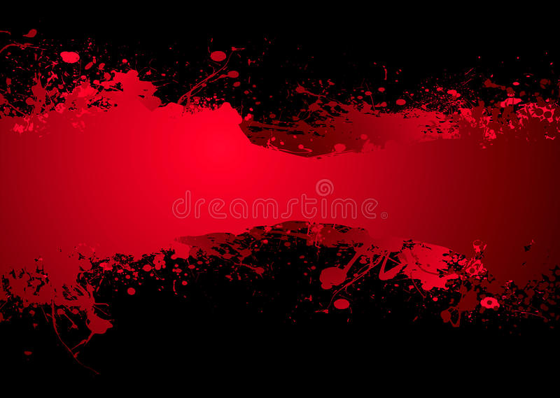Obscuridad de la bandera de la sangre stock de ilustración