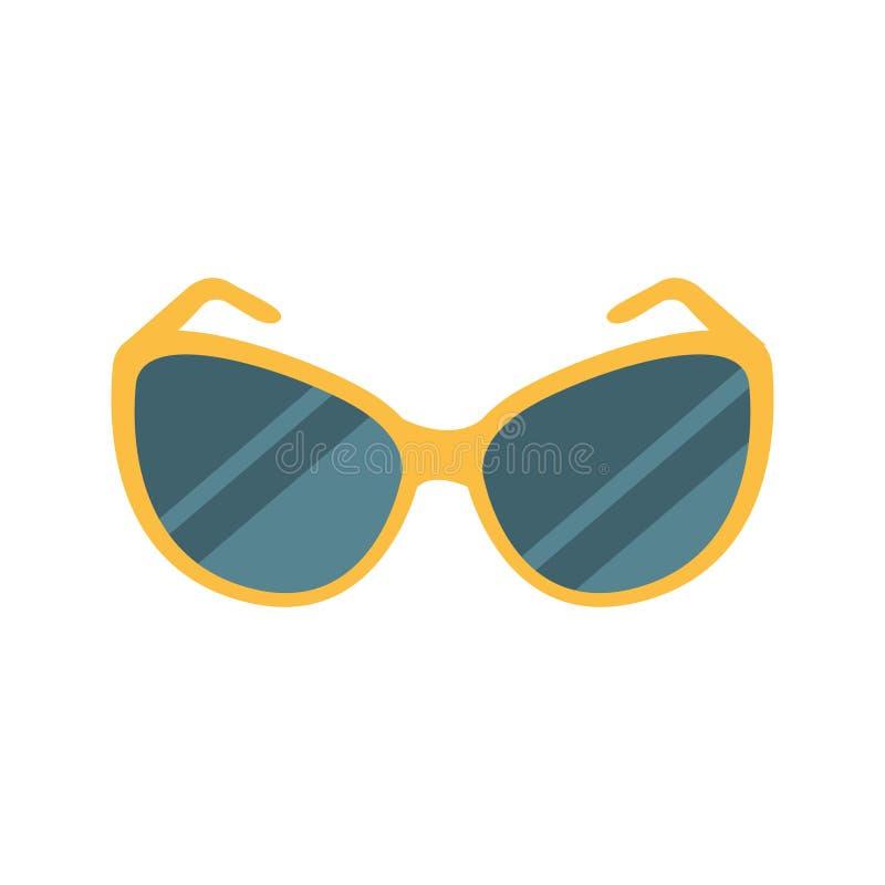 A obscuridade à moda protege a proteção ocular contra o acessório de Sun, parte da série das férias da praia do verão de ilustraç ilustração royalty free