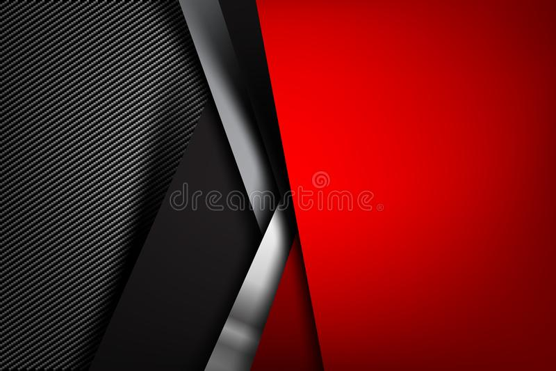 Obscuridade abstrata do fundo com illust do vetor da textura da fibra do carbono ilustração royalty free