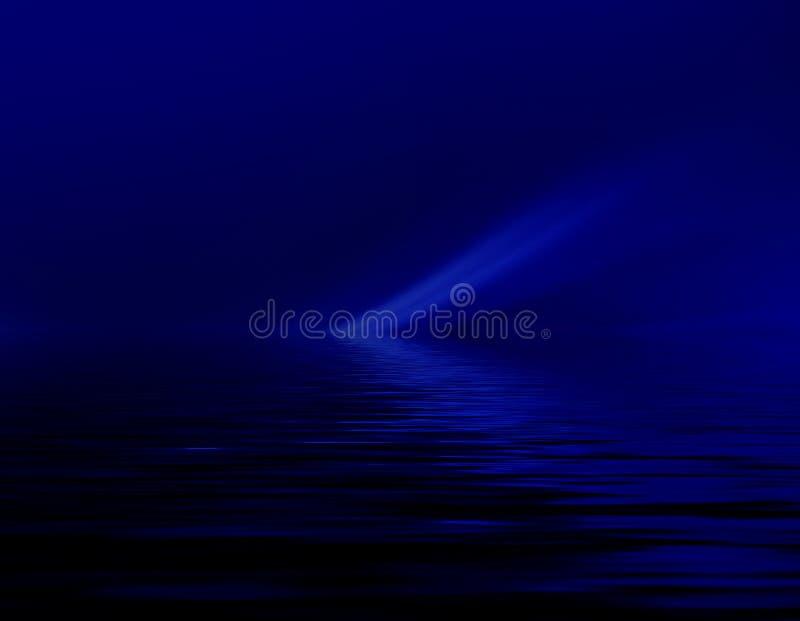 Obscuridade abstrata - fundo azul dos gráficos da inundação para o projeto ilustração stock