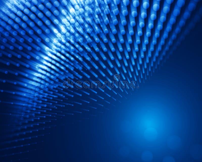 Obscuridade abstrata - projeto azul ilustração stock