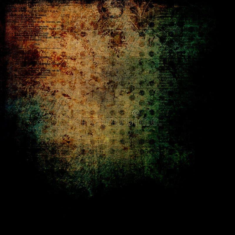 Obscuridade antiga afligida das letras - fundo sujo foto de stock