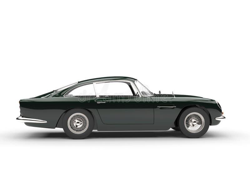 Obscuridade automobilístico do vintage - verde - vista lateral ilustração stock