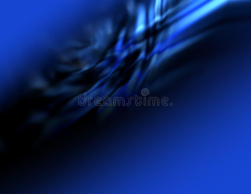 Obscuridade da abstracção - fundo azul ilustração stock